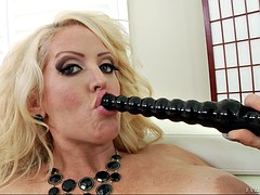 thick blonde alura jenson dildoing the brush pussy and taunting us fro dirty hail
