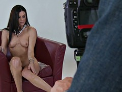 india summer wearing nothing but high heels posing nude