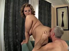 bbw anal and cumshot