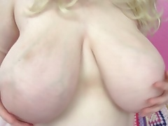 Mystery Teen Giant Tits & Cunt Play