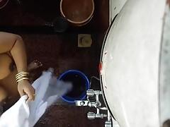 Desi Indian mom hidden cam washed 3