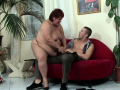 Horny big woman seduced their way man and fucked