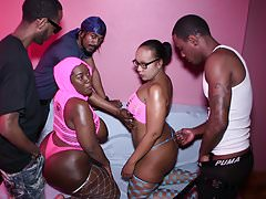 5 WAY BBW Heavy BUTT FUCK PARTY