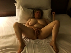 Bbw with big soul mime her pussy