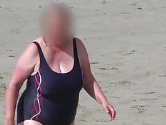 huge tits bbw granny relating to the blue swimsuit