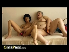 OmaPasS Granny Crude Toying Masturbation Footage