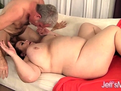 BBW Lady Lynn Knocker Fucks with an increment of Screws a Guy