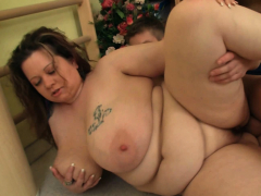 Lord it over fat ass chubby plumper seduces fitness tutor