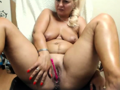 Mature BBW border and masturbate