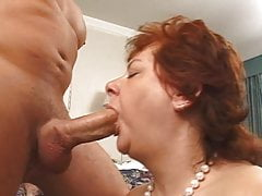 Fat Milf Slurping Cock