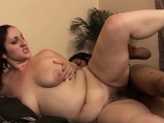 Chubby BBW Pallid Girl Loves the Black Dick