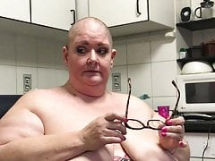 SSBBW pig whore having her head shaved bald Everlastingly