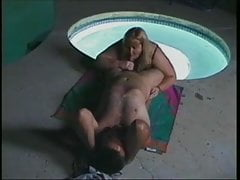 SSBBW fucking in the pool
