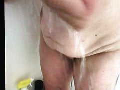 Voyeur Rose connected with shower bbw mature wife