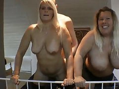 lucky boy having take it on the lam sexual connection in his frolic on touching two busty milf