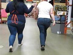 Chubby juicy booty Latina 2fer medium and large