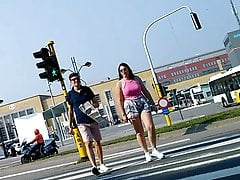 Big euro confidential visa the street give pink teen