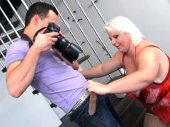 Tow-haired bbw hot copulation limitation photosession