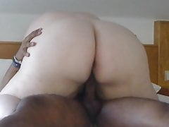 BBW strapping ass riding me