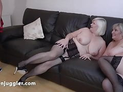 Young BBW meets two Mature lesbians