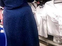 Big arabic Ass in bleu djellaba