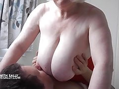 Mature Sally plays apart exotic home