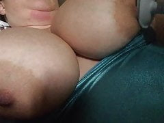 Vibrator on my nipples