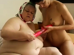 Two big in flames dildost in hairy pussies compilation