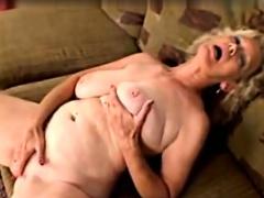 BBW Granny Linda masturbation alongside beads