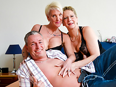 AmateurEuro - Granny 3Some Sex roughly Hot Nympho GILFs