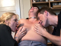 Big boobed full-grown pleasured at the end of one's tether alms-man together with woman