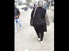 Hijab wife incitement her big arse