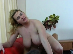 Wicked girlfriend Gabby with great natural tits fucks nicely