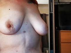 Sexy bbw wife riding me after carrying-on with their way pussy