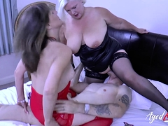 AgedLove Lacey and Pandora and horny cock