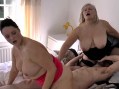 Busty gran up threesome sucks unearth