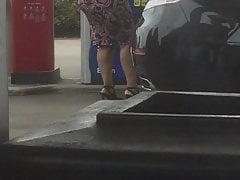 Bbw Goddess At Gas Pump