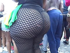 Black women in fishnets
