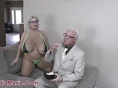 Outstanding Mamma & Beamy Ass Whore Claudia Marie Fucked By Teen BBC