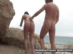 Hot Mature Couple At Literal Beach Sex Affair 1