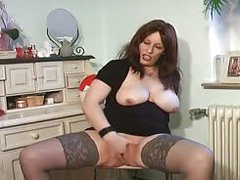 free sex tube German dirty talk in stockings