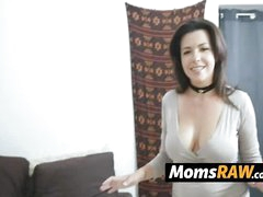 Oddball milf catches her lickerish stepson