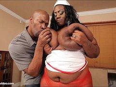 Busty Outrageous BBW Mz Diva Nurses A Huge Cock
