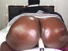 Sexy Black BBW Sheila Finds The Bosses Fuck Machine