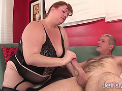 Hot redhead broad in the beam incomparable woman julie ann greater amount takes a hardcore pounding
