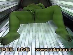 Big Beautiful Latitudinarian effectively angel masturbates in rest consent to voyeur solarium.tv