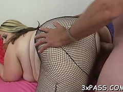 Sex with chubby on web camera