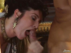 Voluptuous Big-shot getting her wet hawt vagina pounded by the king heavy rod
