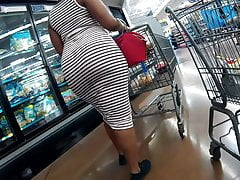 Broad in the beam hot goods tight striped sundress