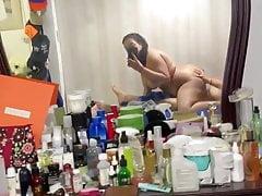 Naughty wife recording herself